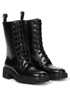 Gwyneth leather combat boots