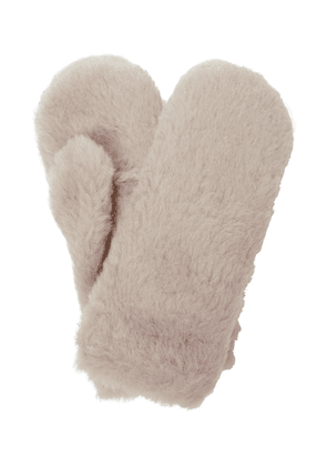 Ombrato alpaca, wool and silk mittens