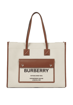 Freya canvas and leather tote
