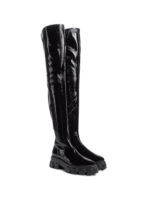 Monolith faux leather over-the-knee boots