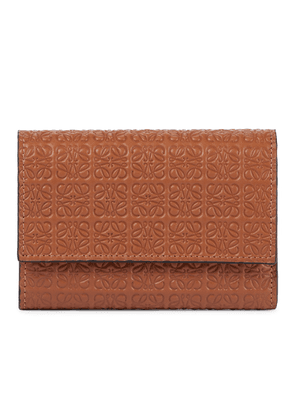 Anagram-embossed leather wallet