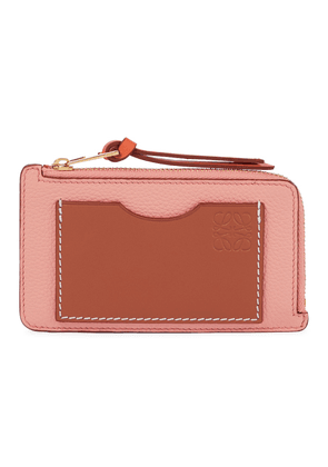 Anagram leather coin and card holder