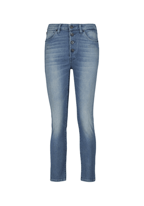 Poppy mid-rise cropped skinny jeans