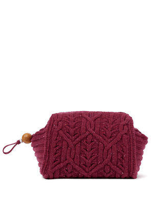 Puffy Pouch knitted clutch