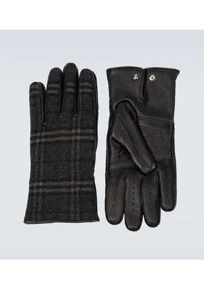 Cashmere and wool blend gloves