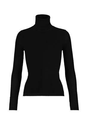 Cashmere, wool and silk turtleneck sweater