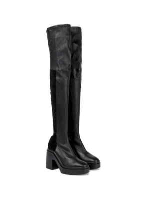 Naelle leather over-the-knee boots