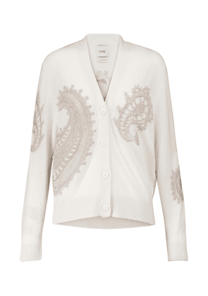 Cashmere and cotton cardigan