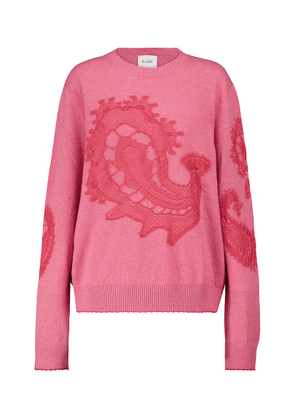 Paisley cashmere and cotton sweater