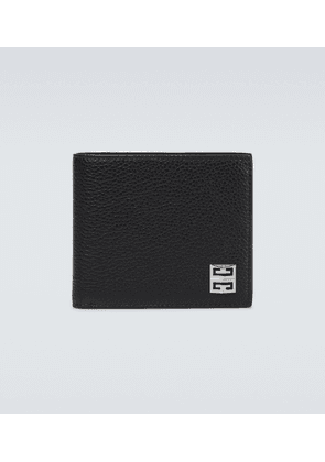 4G grained leather bifold wallet