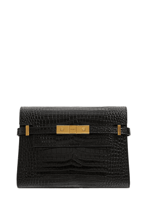 Small Manhattan Embossed Leather Bag