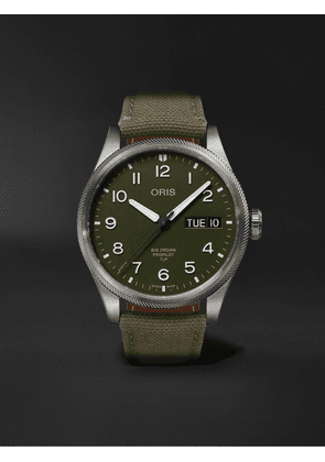 Oris - TLP Big Crown ProPilot Limited Edition Automatic 44mm Stainless Steel and Ventile Watch, Ref. No. 01 752 7760 4287-Set - Men - Green