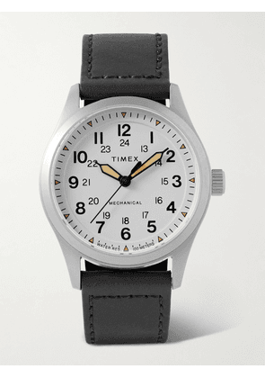 Timex - Expedition North 38mm Hand-Wound Stainless Steel and Leather Watch - Men - White