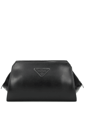 City leather clutch