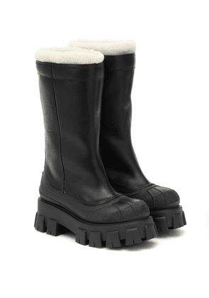 Monolith shearling-lined leather boots