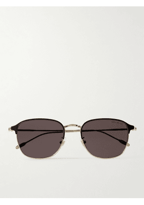 Montblanc - D-Frame Gold-Tone and Acetate Sunglasses - Men - Gold
