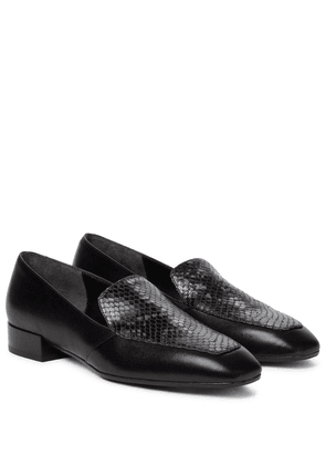 Angi snake-effect leather loafers