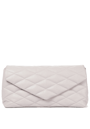 Sade Puffer quilted leather clutch