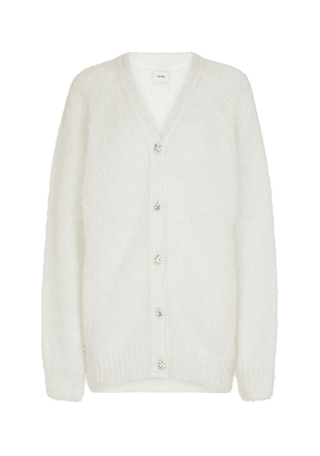 Marcilly embellished mohair-blend cardigan