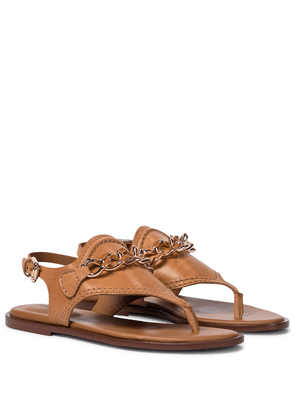 Mahe leather thong sandals