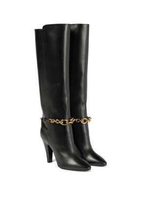 Le Maillon leather knee-high boots