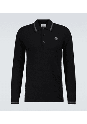 Long-sleeved cashmere polo shirt
