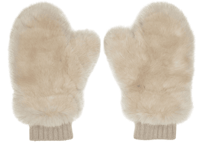 Givenchy Pink Faux-Fur Mittens