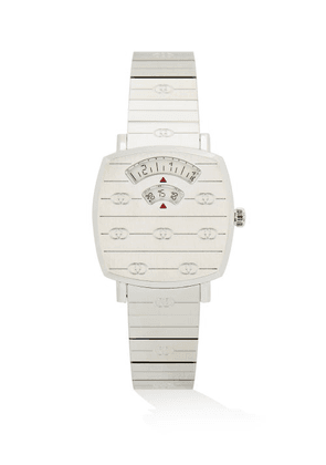 Gucci - Grip Two-window Stainless-steel Watch - Womens - Silver