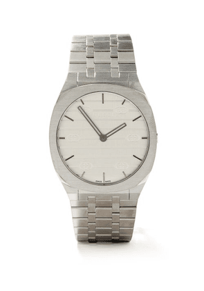 Gucci - 25h Stainless-steel Watch - Mens - Silver