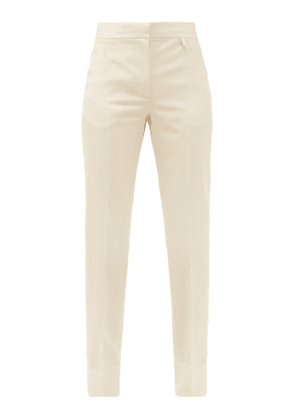Givenchy - High-rise Wool-crepe Straight-leg Trousers - Womens - Light Beige