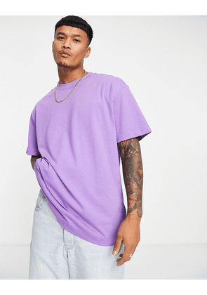 Weekday oversized t-shirt in lilac-Purple