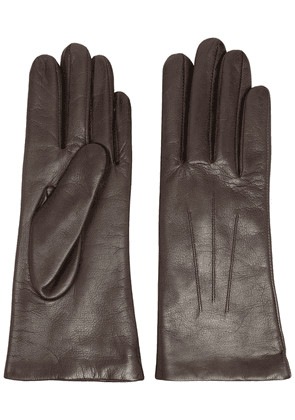 DENTS Isabelle cashmere-lined leather gloves - Brown
