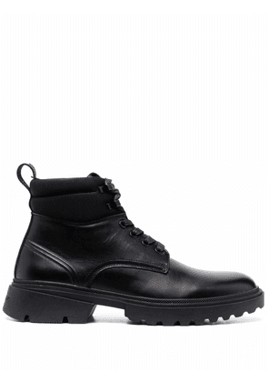 Calvin Klein ankle lace-up boots - Black