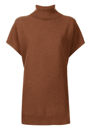 Fabiana Filippi roll-neck knitted top - Brown