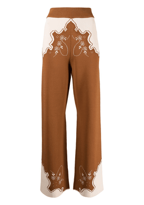 Alice McCall Paris Burning embroidered trousers - Brown