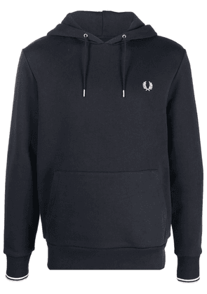 FRED PERRY embroidered logo hoodie - Blue