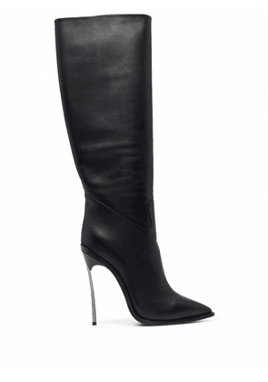 Casadei leather knee-high boots - Black