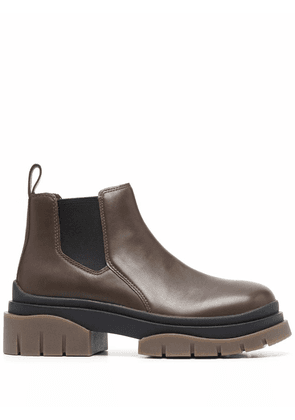 ASH chunky-sole ankle boots - Brown