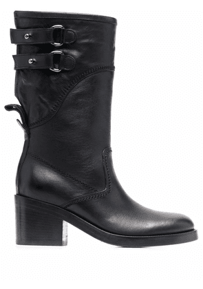 Buttero buckled leather boots - Black