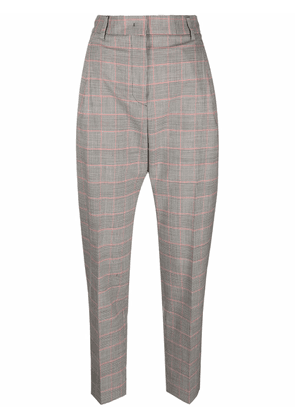 Alberto Biani checked tapered trousers - Grey