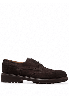 Doucal's lace-up suede brogues - Brown