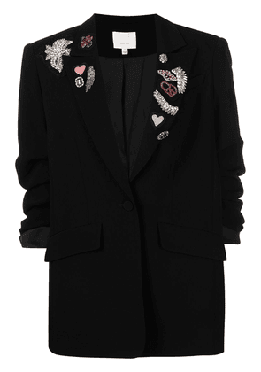 Cinq A Sept embroidered single-breasted blazer - Black