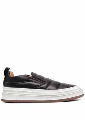 Buttero panelled leather platform sneakers - Black