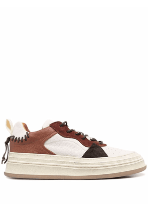 Buttero stitched leather platform sneakers - Neutrals