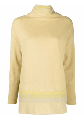 Antonelli high neck knitted jumper - Yellow