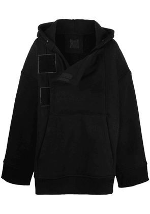 Givenchy concealed-fastening hooded coat - Black