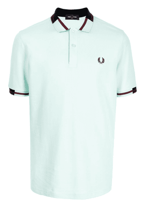 FRED PERRY crest-embroidered polo shirt - Green