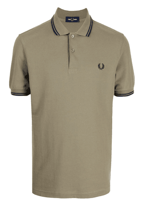 FRED PERRY embroidered logo polo shirt - Green