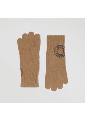 Burberry Logo Graphic Cashmere Blend Gloves