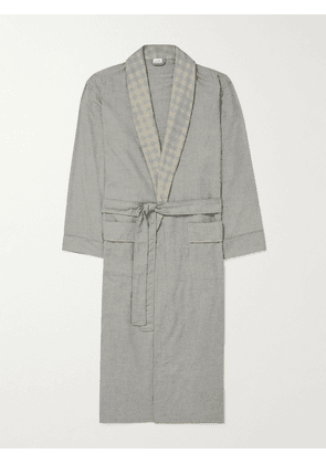 Zimmerli - Heritage Cotton and Wool-Blend Flannel Robe - Men - Gray - S